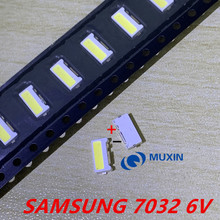 100PCS/Lot Edge SMD SAMSUNG LED 7032 6V 1W 160mA Cool White High Power For TV Backlight