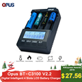 Opus bt-c3100 배터리 충전기 스마트 디지털 지능형 4 슬롯 lcd 범용 배터리 충전기 리튬 10440 18650 opus bt c3100