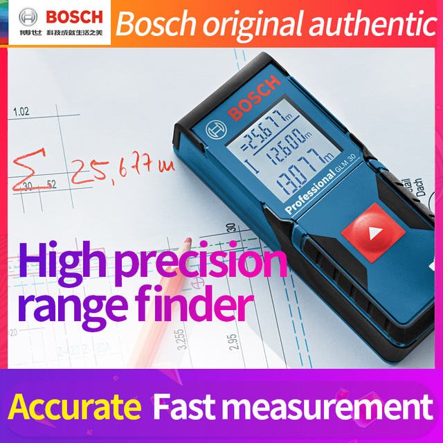 BOSCH dalmierz laserowy 25/30/40/50/70/80/250 metrów elektroniczny podczerwieni objętości pokoju linijka wysokiej precyzyjny pomiar instrumentu
