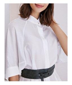 Image 4 - ฤดูใบไม้ผลิและฤดูร้อนใหม่ของผู้หญิงเสื้อหลวมและสบายประเภท Raglan แขนเพิ่มออกแบบหลวม