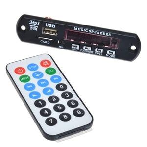 Image 2 - APP בקרת Bluetooth 4.0 MP3 פענוח לוח מודול 2*10w כוח מגבר TF כרטיס USB FM APE FLAC WAV WMA מפענח לוח אדום LED