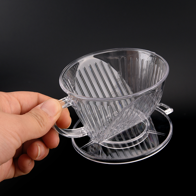 PP Resin Coffee Filter Cup Drip Coffee Bowls Manually Follicular Filters Coffee Tea Tools