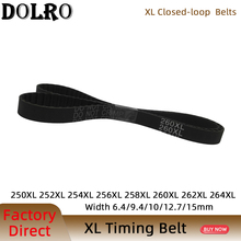 XL Timing Belt 250/252/254/256/258/260/262/264XL Width6.4/9.4/10/15mm  Closed Loop Toothed Transmisson Rubber Timing Pulley Belt