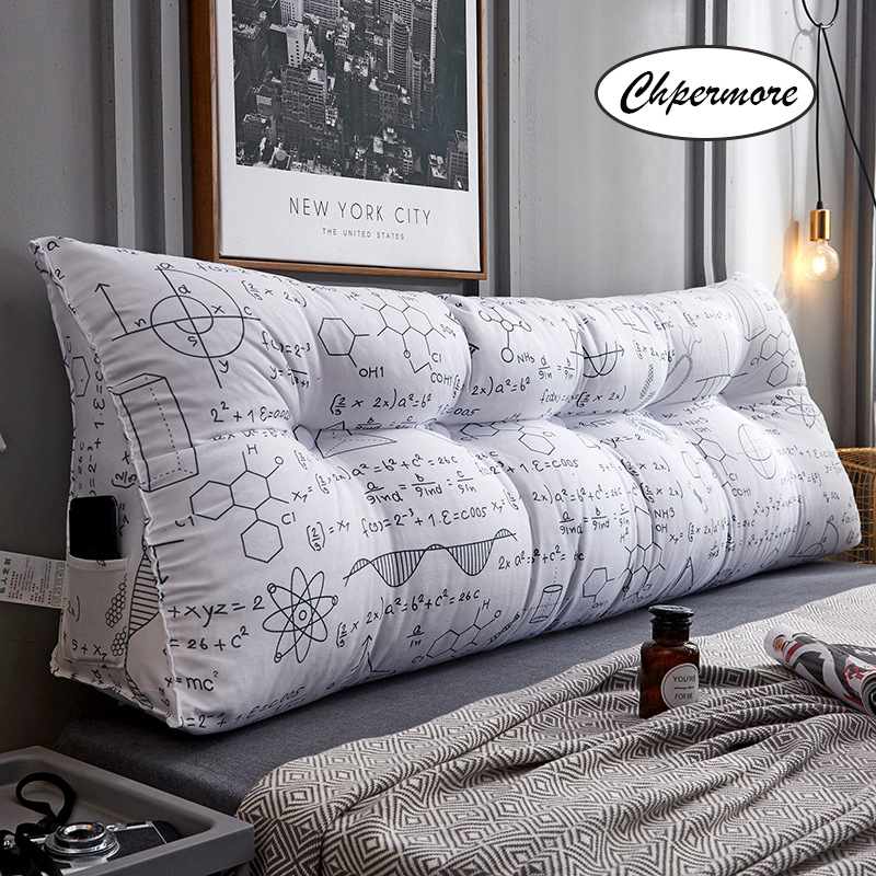 Chpermore Creative Multifunction Double Pillows Simple Bed Cushion Double Tatami Bed Soft Bag Removable Bed Pillow For Sleeping