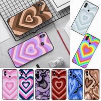 Custodia per telefono shine brown hearts pink love per Xiaomi Redmi mi note max 3 5 6 8 9 10 t S SE lite pro custodia morbida in Silicone