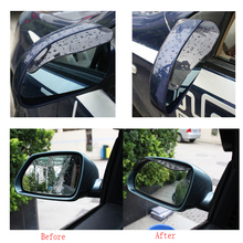 цена на 2Pcs Car rearview mirror rain Eyebrow Visor Shade Shield Water Guard For Car Truck thickened automotive Rain Cover