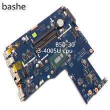 Para lenovo B50-30 portátil principal I3-4005U cpu LA-B102P placa de vídeo integrado placa de teste completo frete grátis
