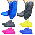 1 пара переносных водонепроницаемых чехлов для обуви  прочные уличные непромокаемые Нескользящие силиконовые чехлы для обуви  Бытовые аксе...
