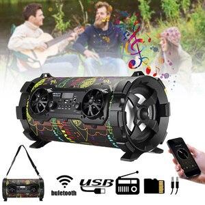 15 Вт беспроводной bluetooth динамик портативный стерео Бас громкий динамик звуковая система AUX USB TF FM радио открытый динамик плеер Музыка
