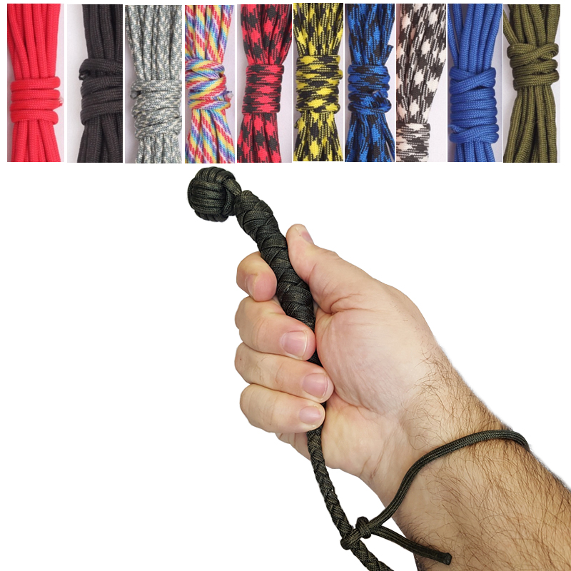 100FT Paracord 550 Cord Rope For Monkeys Fist Self Defense Slungshot Sailors Broken Window Person Lifeline Survival Weapons