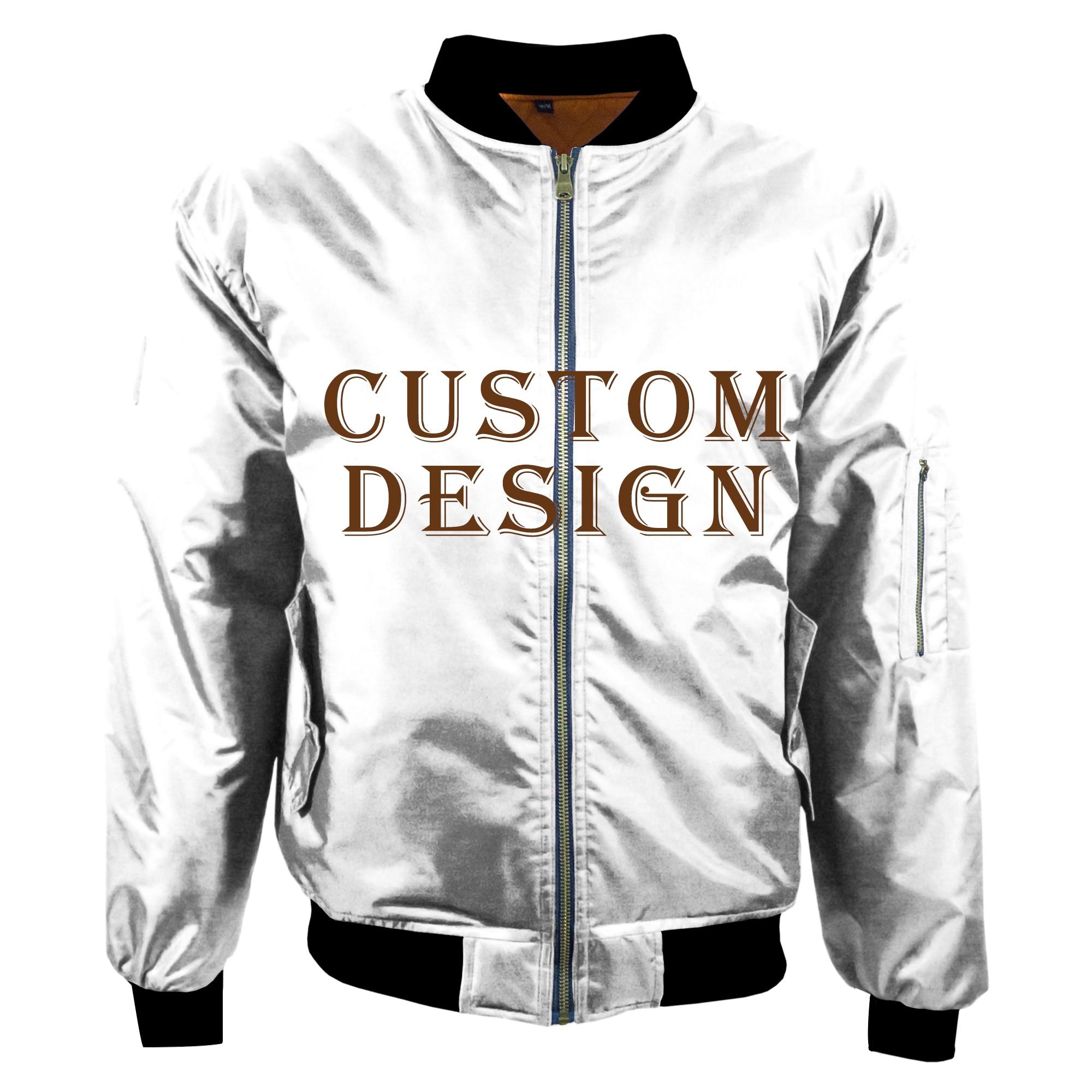 2019 Winter Keep Warm Nylon and Cotton Men Custom Bomber Jacket