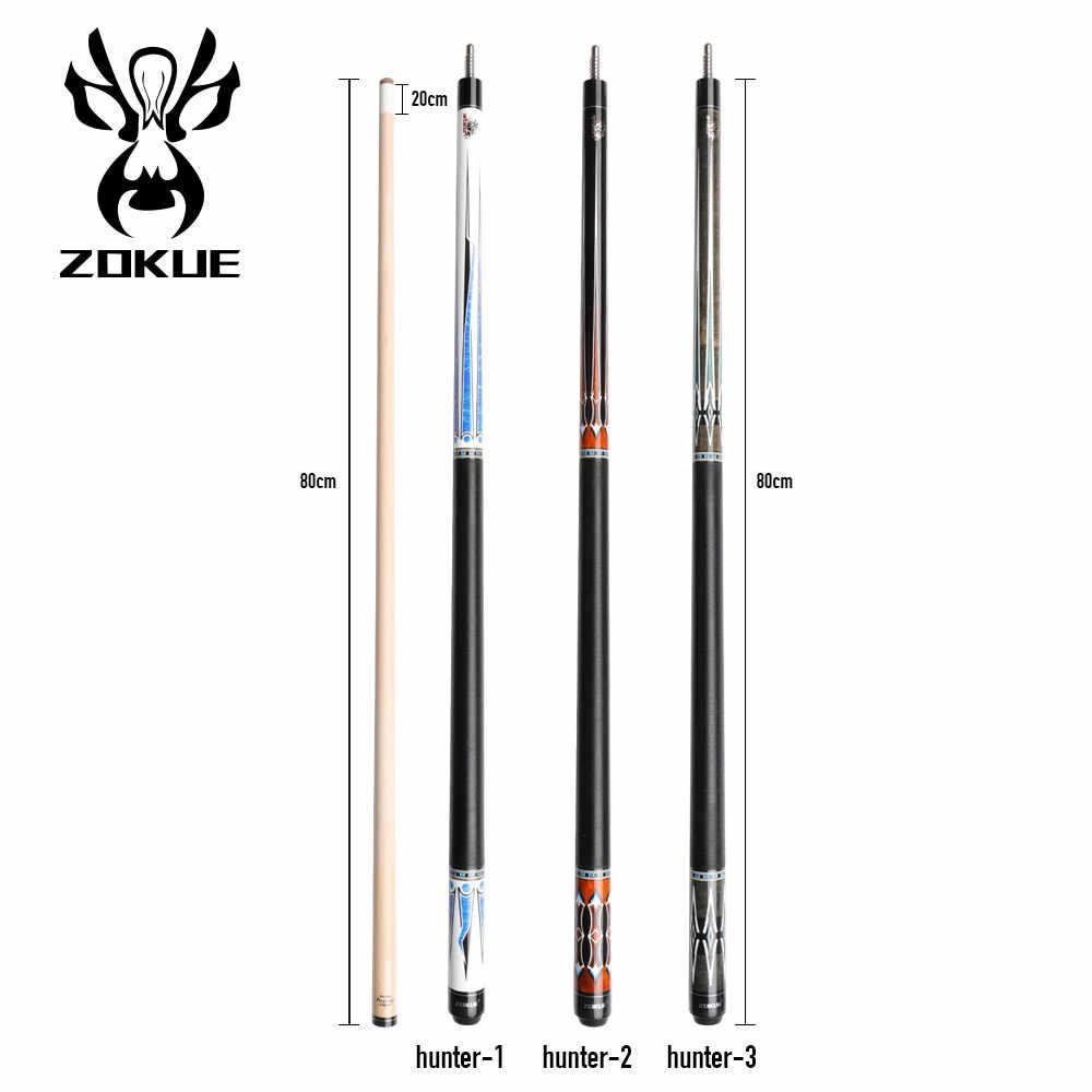 Bâton de queue de billard russe ZOKUE 160cm 12.75mm pointe bâton de queue de piscine professionnel bâton de tige d'érable dur canadien Kit de Joint Radial