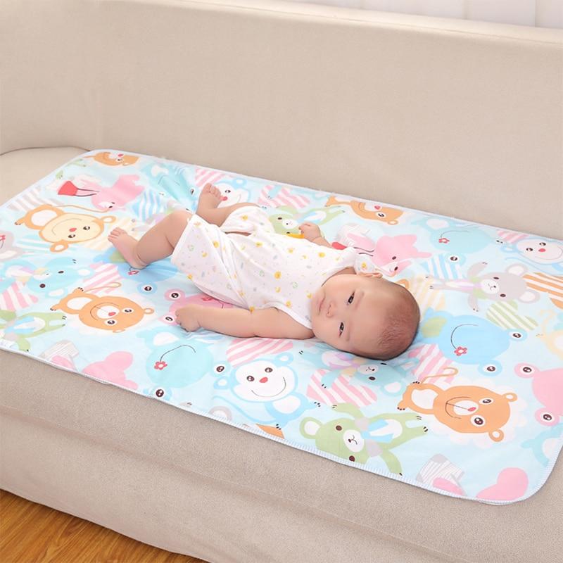 7 Size  Baby Waterproof Sheet Urine Changing Pads Urine Pad Cartoon Reusable Infant Bedding Nappy Burp Mattress Changing Mat