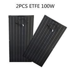 200Wเท่ากับ2Pcs 100W Monocrystalline Solar Cellสำหรับรถบ้าน/เรือยอชท์/Steamship 12V 24โวลต์ชาร์จพลังงานแสงอาทิตย์