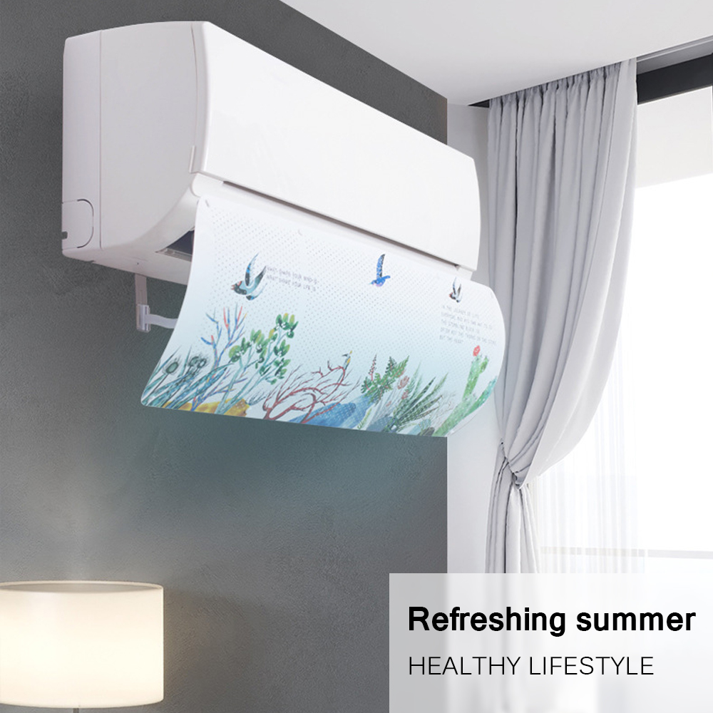 Household Adjustable Air Conditioner Cover Airconditioner Deflector Baffle Shield Wind Guide Month Straight Anti-Wind Shield(China)