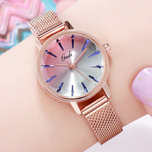 New Rose Gold Mesh Stainless Steel Women Watches Student Top Luxury Casual Quartz Watch Clock Elegant Lady Brecelet Wrist Watch платье westelite 38in