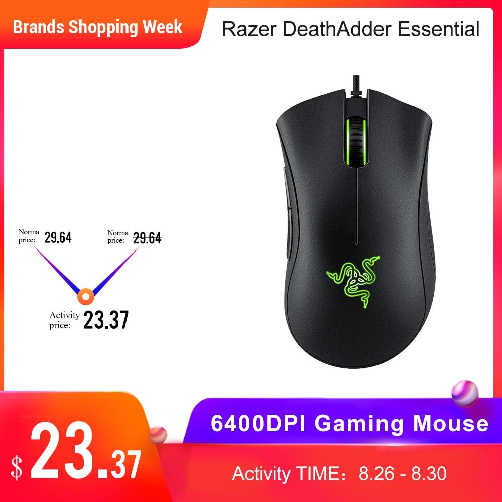 Original Razer DeathAdder Essential Wired Gaming Mouse Mice 6400DPI Optical Sensor 5