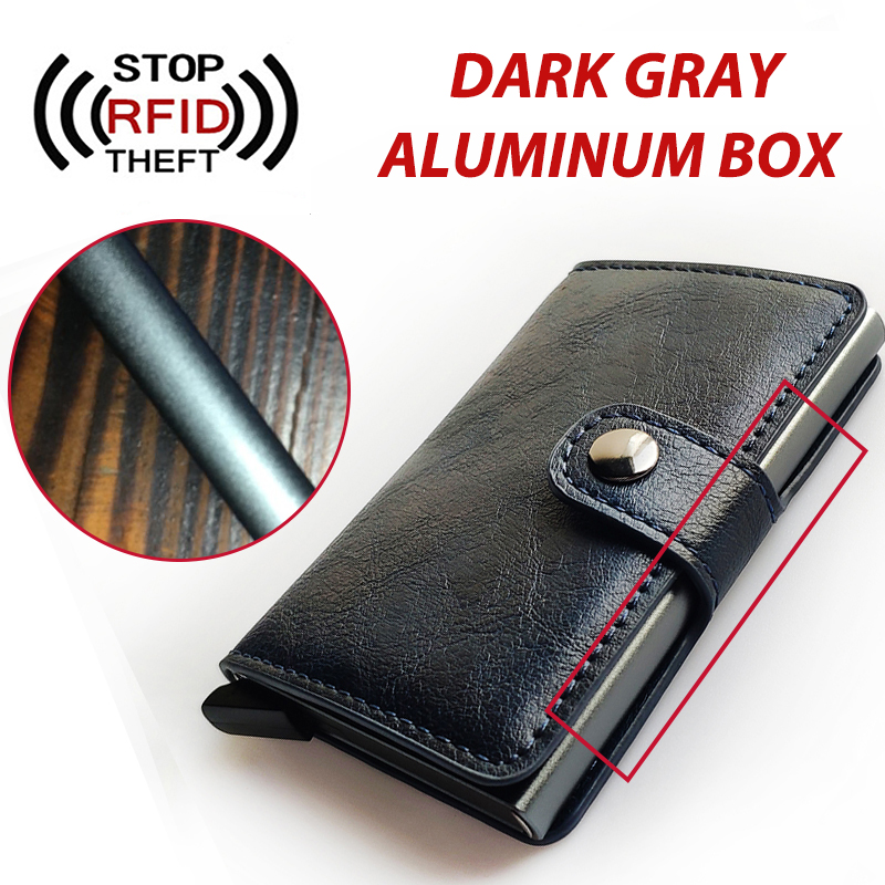 Colorful Box Men Card Holder RFID Blocking Women Wallet Aluminium Male Cardholder Business Credit ID Card Holder Men Purse