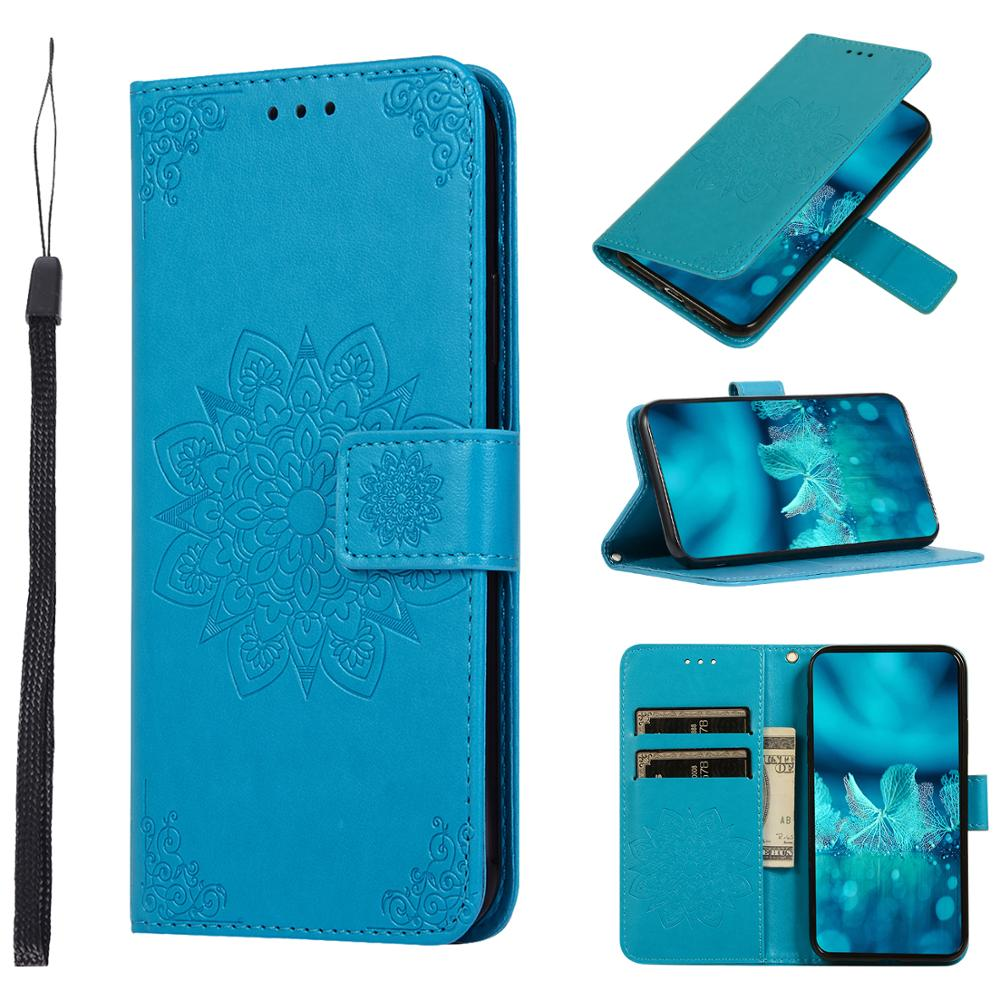 Floral Wallet Cover on For <font><b>SAMSUNG</b></font> <font><b>A50</b></font> SM-<font><b>A505F</b></font> A505FN A505YN Case Flip Mobile BAG <font><b>Galaxy</b></font> A50S A507F A507FN A507W Leather Book image