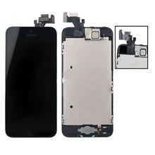 Montagem completa para iphone 5 5S se 5c lcd screen display toque digitador assembléia com câmera frontal para iphone5 tela