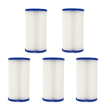 5Pcs/Set Swimming Pool Filter Pool Filter Pumps Cartridges Universal Replacements for Pool Cleaning