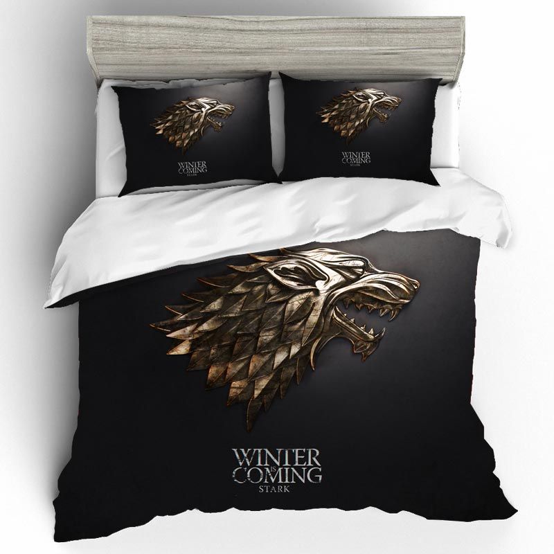 Cotton Bedding Sets Skull Game Of Thrones King Size Duvet Cover Bed Sheets And Pillowcases Bed