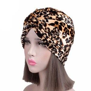 Image 4 - Мусульманские женщины хлопок Цветочный Цветок вязанный тюрбан шапка шарф Рак химиотерапия шапочка при химиотерапии головной убор аксессуары для волос