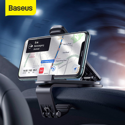 Baseus Dashboard Car Phone Mount Auto Center Console Phone Holder For iPhone Xiaomi Samsung 4.7-6.5 Inch Mobilephones Stand