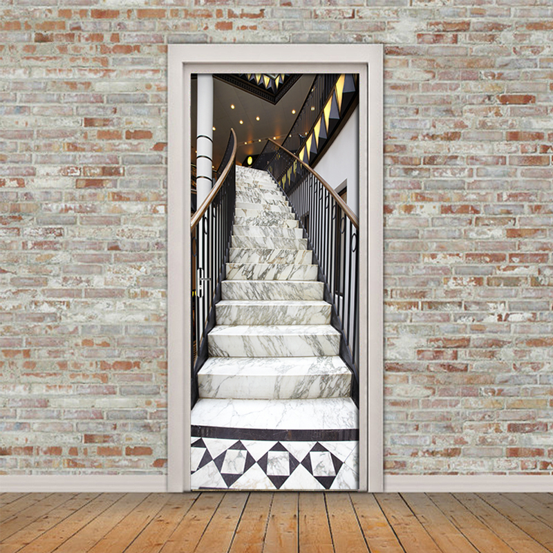 Купить современная лестница строительная дверь стикер гостиная спальня