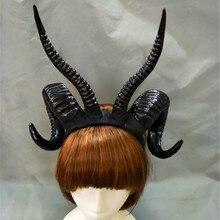 1 шт. дьявольская ведьма Готическая Лолита: бараний рог головная повязка, завязка для волос аксессуар Косплэй Хэллоуин головные повязки фото-реквизит