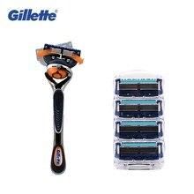 Removable Razor Blades for Men Gillette Fusion ProGlide Shaving Replaceable Cassettes Fusion Cartridge 1pcs Holder 4pcs Blade