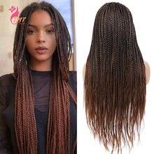 Синтетические длинные плетеные парики для женщин хорошие дешевые