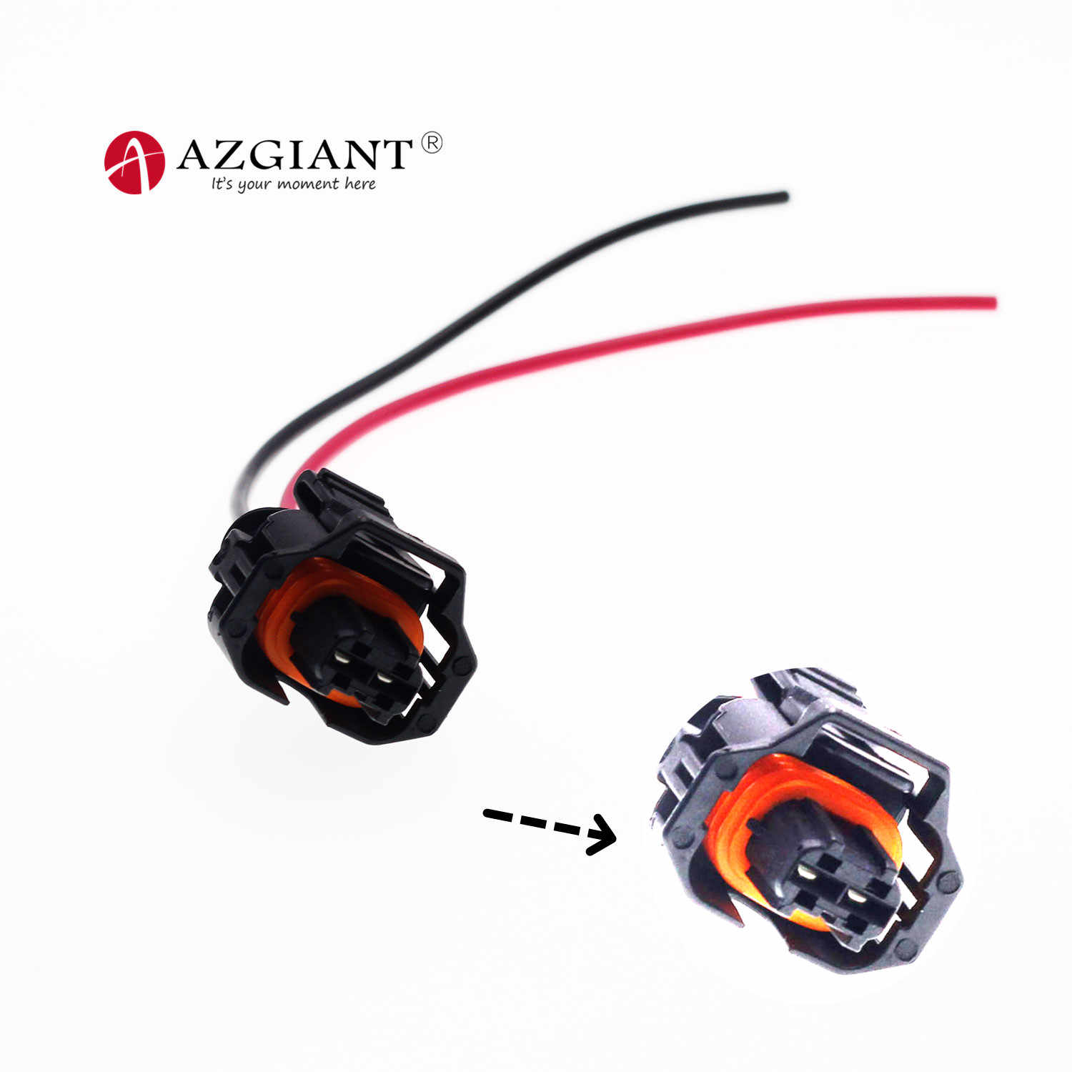 2pin DJ7026A-3.5-21 DJ7026B-3.5-21 cable Pigtail para Bosch diesel común carril inyector macho conector con terminal