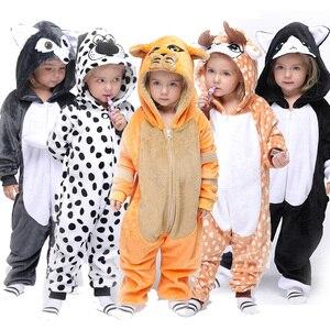 Kids Pajamas Kigurumi Licorne Onesie Unicorn For Children Animal Cartoon Blanket Sleepers Baby Costume Winter Boy Girl Jumspuit