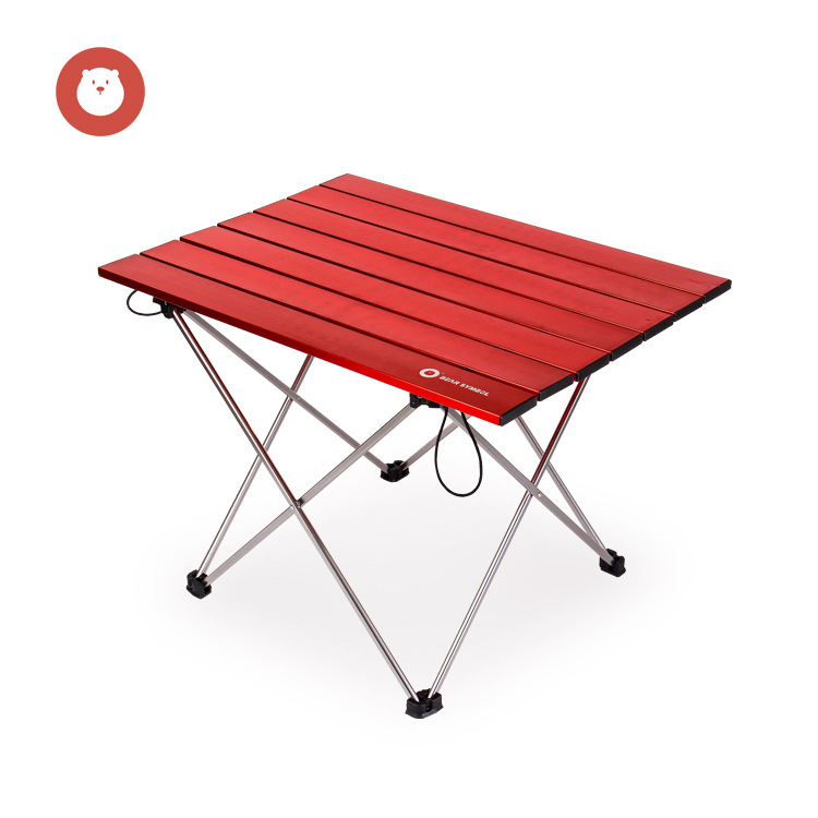 Outdoor Folding Table Camping Picnic Waterproof Portable Desk Light Fishing BBQ