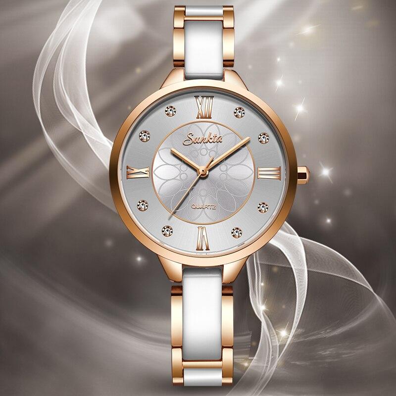 2020 SUNKTA Women Watches Top Luxury Brand Lady Fashion Quartz Watch Simple Watchband Waterproof Wrist Watch Relogio Feminino