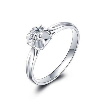 18K Gold And White Gold Platinum Wedding Couple Diamond Ring Men And Women Models Rose Gold Gold Diamond Ring A Carat Genuine 1