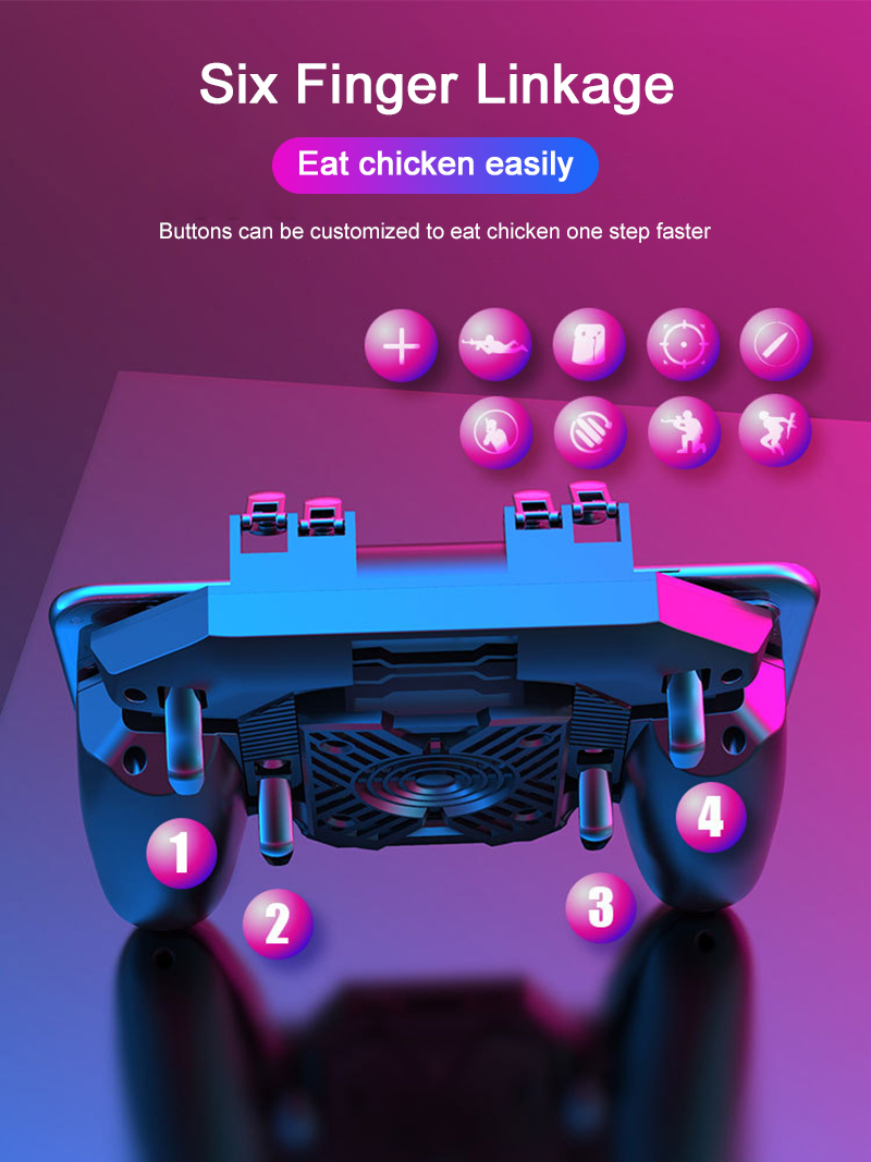 2020 NEW DL88 Game Controller Joystick For PUGB Mobile Phone Shooter Trigger OPEN Fire Button Mobile Phone Gamepad Cooler Fan