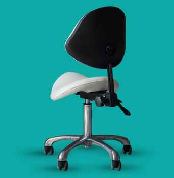 Ergonomic Swivel Dental Chair Saddle Doctor\'s Stool Adjustable Backrest Leather Dentist Spa Rolling Chair Beauty Salon Clinic