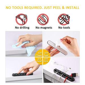 Image 5 - Kabel silikonowy Organizer elastyczny kabel Winder Management zaciski kablowe uchwyt USB uchwyt na kabel klawiatura z myszką słuchawki samochodowe