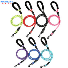 Nylon Dog Leash Reflective 1.5M Long with Comfortable Padded Handle  Durable Pet Traction Rope