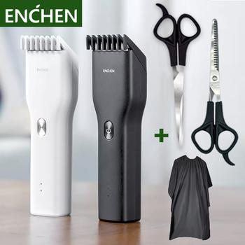 Spinki do włosów trymery do męskiej profesjonalnej higiena osobistej urządzenia trymery do włosów USB szybki ładowanie elektryczna maszynka do włosów 5 tanie i dobre opinie XIAOMI CN (pochodzenie) Akumulator Globalny Uniwersalny (100-240 V) universal STAINLESS STEEL 85 Min Hair Trimmer xiaomi hair clipper
