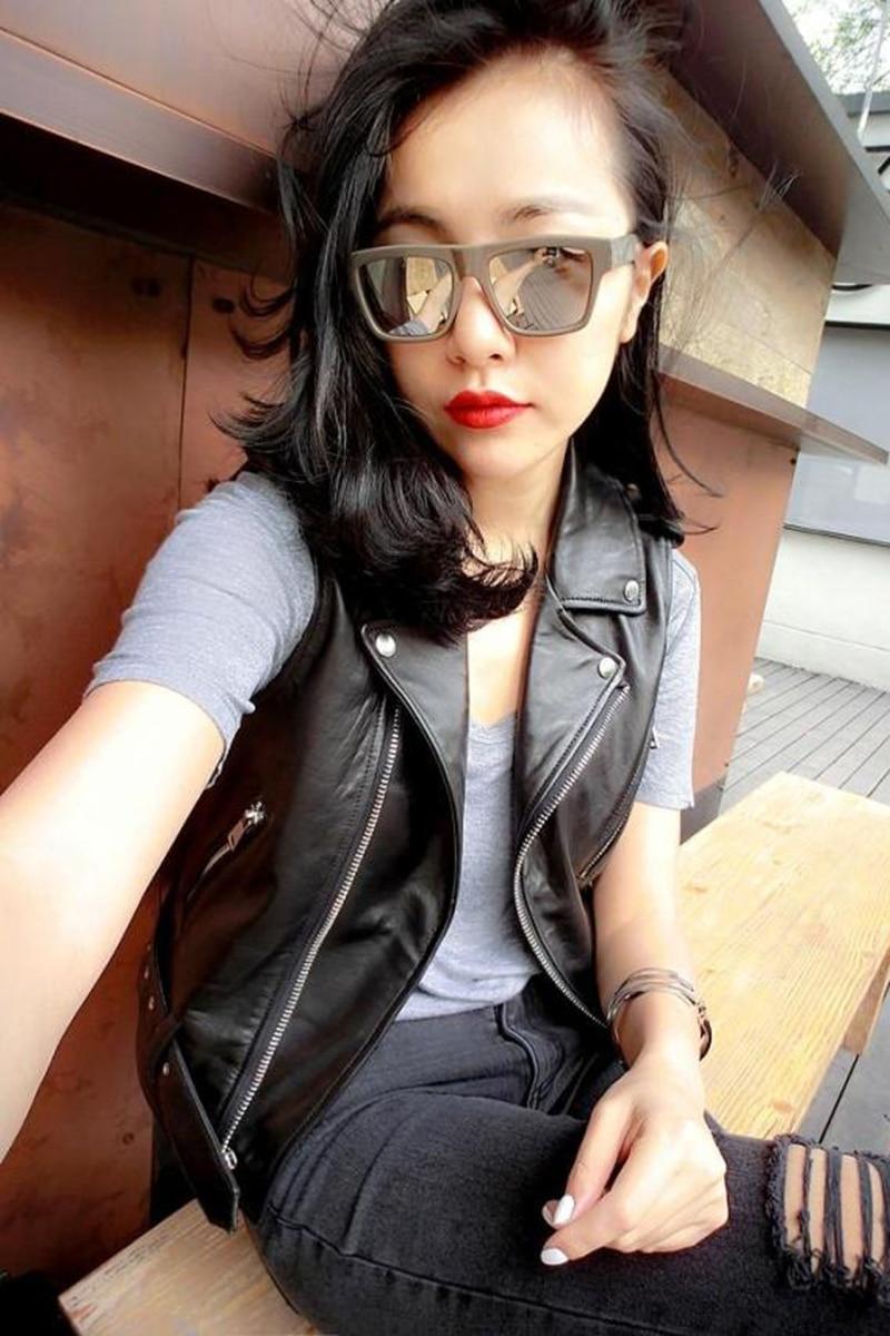 New Style Fashion Women Vest Good Sales Quality Slim 100% Sheepskin Leather Jacket
