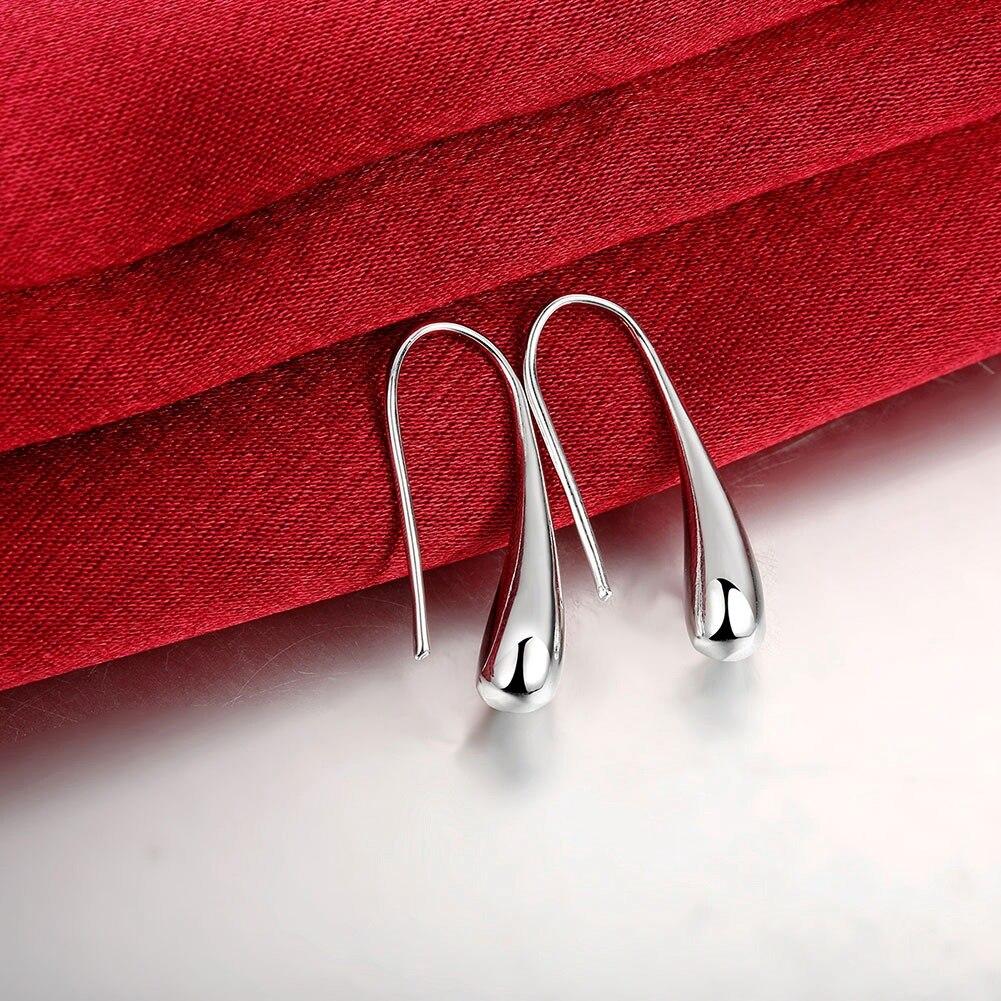 New 2021 Hot Sale 925 Silver Earring Fashion Jewelry Teardrop/Water drop/Raindrop Dangle Earrings For Women Valentine Gifts