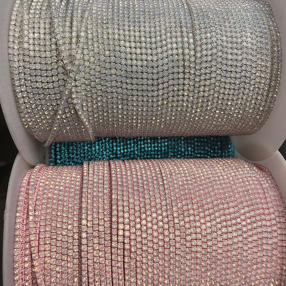 Ss4 Стразы Опаловая чашка цепь лента, 1,4 мм Стеклянная отделка новый цвет одежды DIY хрустальный драгоценный камень для ювелирных изделий Мода