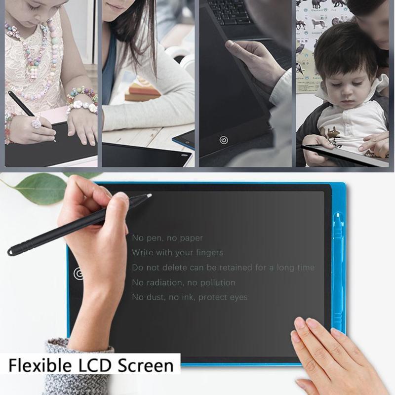 12 polegada LCD Desenho Tablets ABS Durável Tampa Placa de Escrita para Crianças Crianças Cedo Educacional Inteligente Um Movimento Chave Escrita pad