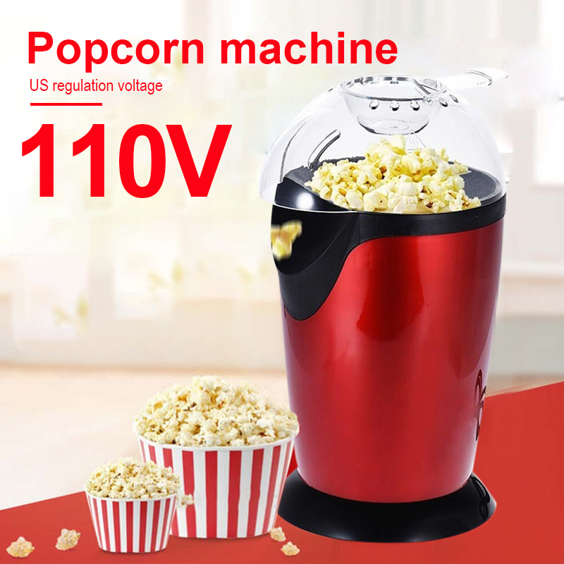 Mini Popcorn Machine Popcorn Maker Popcorn Machine 110V ABS 1200W Economic Simple To Make Health Desktop Household No Fuel