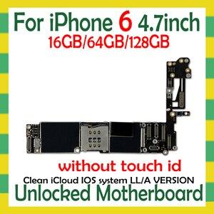 Image 2 - Odblokowany dla iphone 6 płyta główna z/bez Touch ID dla iphone 6 Logic Boards z funkcją odcisków palców IOS