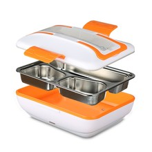 220V Electric Heating Lunch Box Portable Heatable Food Heater with Removable Stainless Steel Container Cutlery Lunch Box with EU(China)