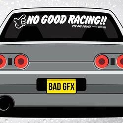 Для No Good гоночный козырек ветрового стекла полосы-JDM Kanjo Racer Honda Civic EK9 EG EF